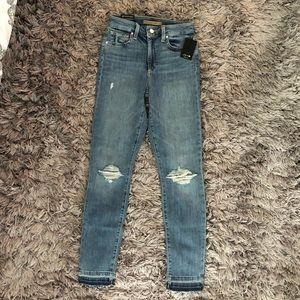 Joe's jeans with unfinished hem